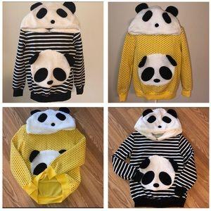 Tops - •2•PANDA 🐼 Adorable Hooded Shirt•Jackets